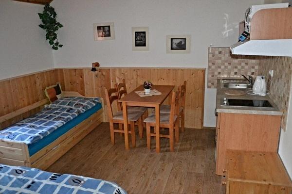 Ubytování na horách v penzionu v Albrechticích v Jizerkách - pokoj