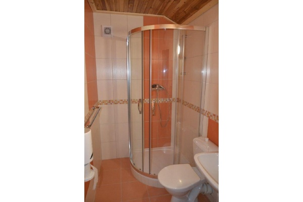 Ubytování na horách - Penzion v Albrechticích v Jizerských horách - koupelna